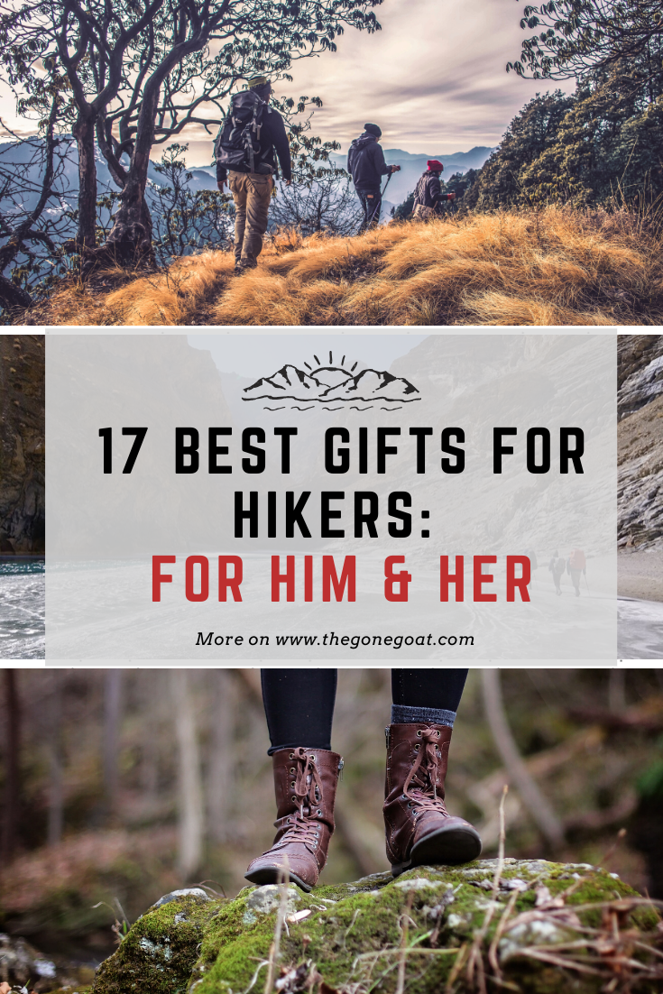 Wondering what hiking gift to get that's not cliche? Here are some of the best gifts and ideas for hikers, whether it's for him, her and the adventurer in you. giftsforhikers #giftideasforhikers #outdoors #giftideas #adventure #hiking #mountains #giftsforhim #giftsforher