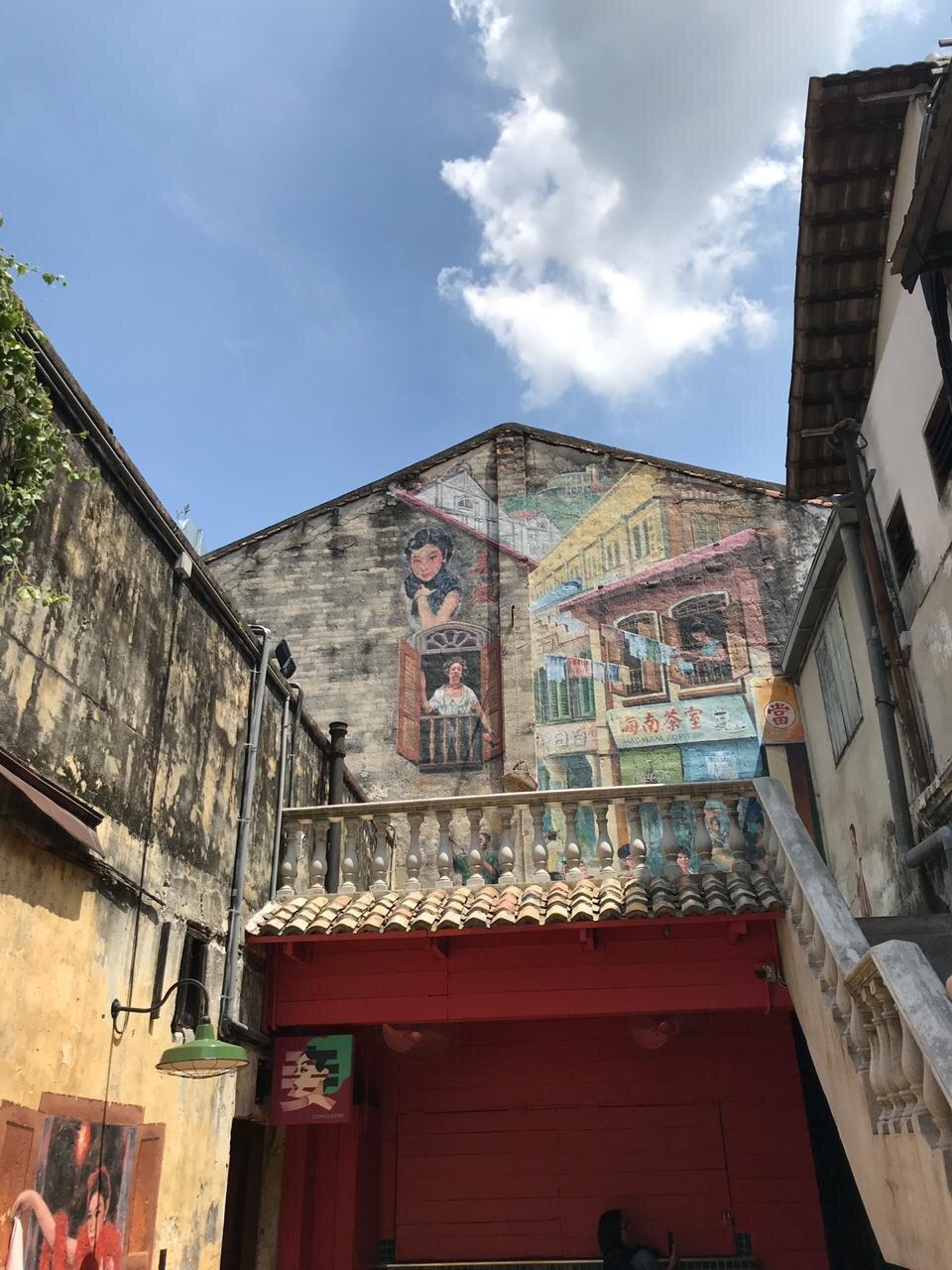 Restored chinatown lane at Kwan Chai Hong, Petaling street in China town.