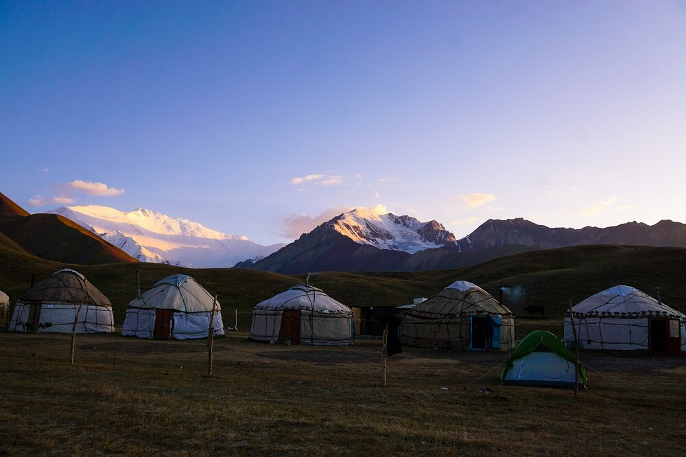 A common yurt stay during the summer seasons in Central Asia.