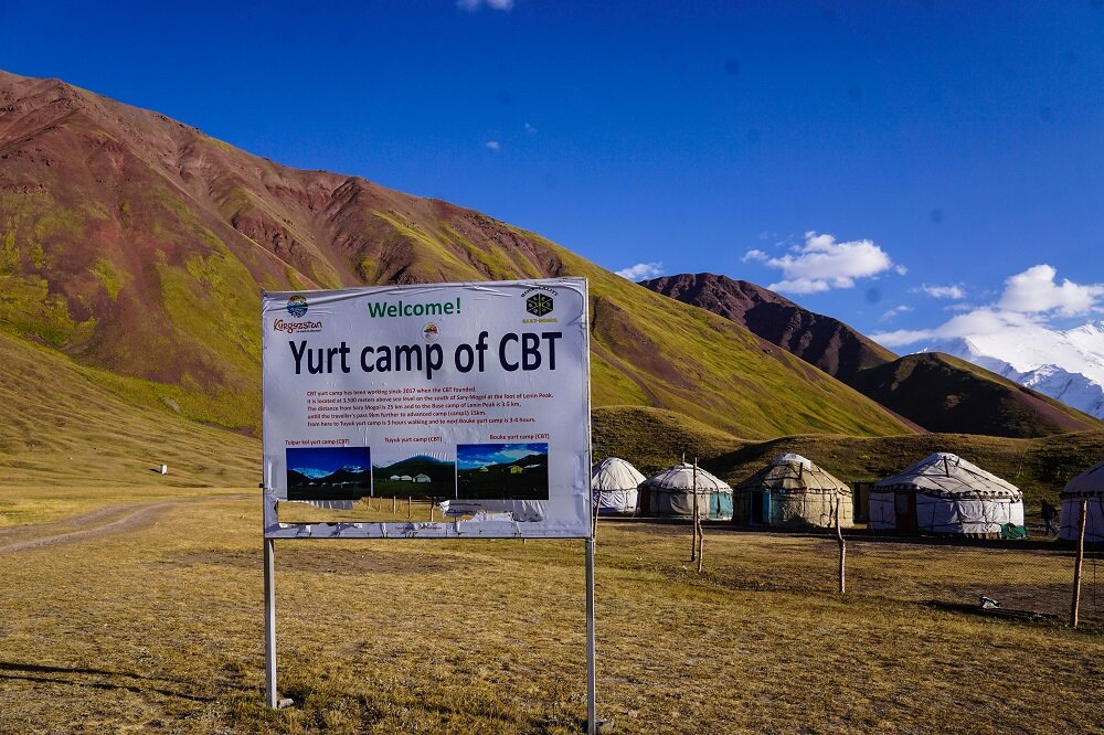 The best views of Tulpar Lake can be seen from the CBT Yurt Camp on our way to Lenin Peak Base Camp.