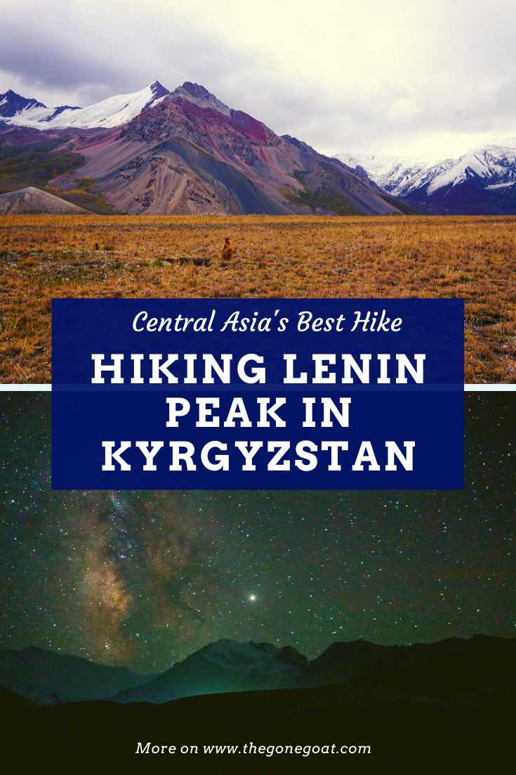 Imagine a place that has their nomadic cultures intact and where it is  3,000 years old. Here is a guide on how to climb or trek Lenin Peak Base Camp in the   Trans-Alay Range of the Pamir Mountains between Tajikistan and Kyrgyzstan. #treks #hikes #mountains #CentralAsia #leninpeakbasecamp #Kyrgyzstan #trekking #solotravels #hiking #traveldestinations #travelideas