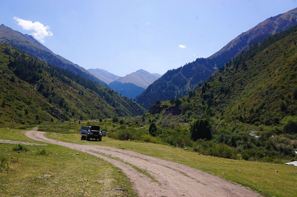 The start of our trek at Kol-Tor Lake