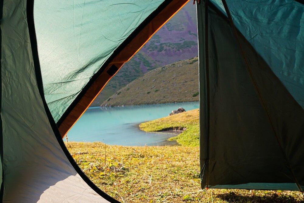 We woke up to this literally! Camping views at Kol Tor Lake.