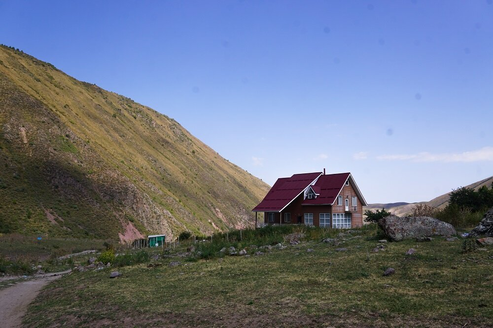 Here's where to stay in Kegety on our a day hike from Bishkek when trekking to Kol Tor Lake