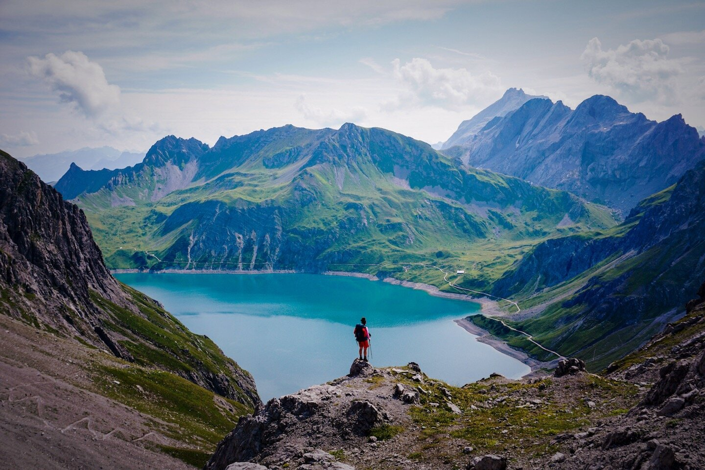 Lünersee loop trail is something everyone can do and one of the best hiking trails in Europe.