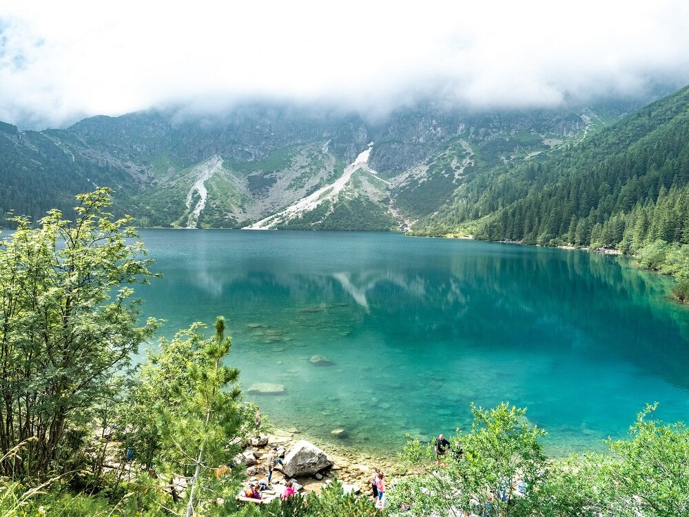 One of the most accessible hikes is the path to Morskie Oko in Poland.