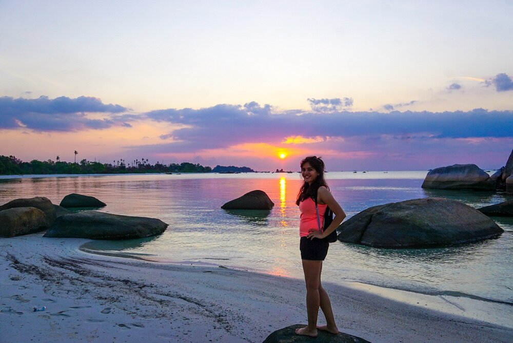 Travelling in Indonesia's offshore islands in Belitung.