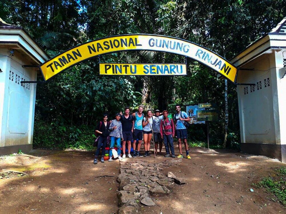 our ending point after trekking mount rinjani, at senaru