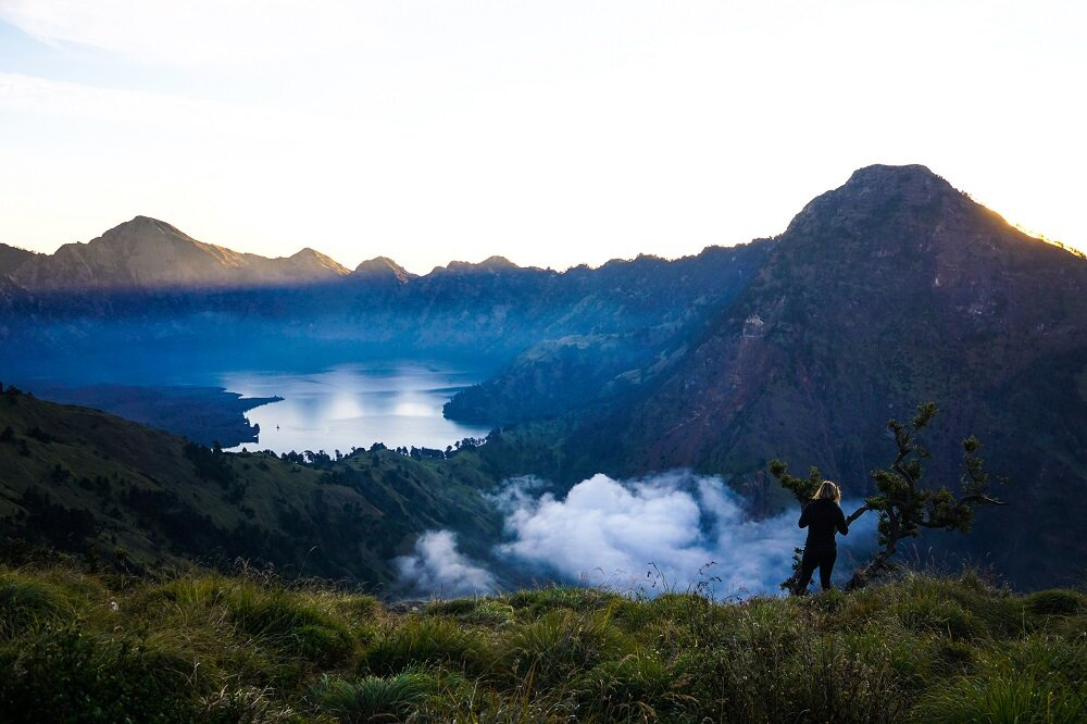 The best time to trek mount rinjani is in aprilto December.
