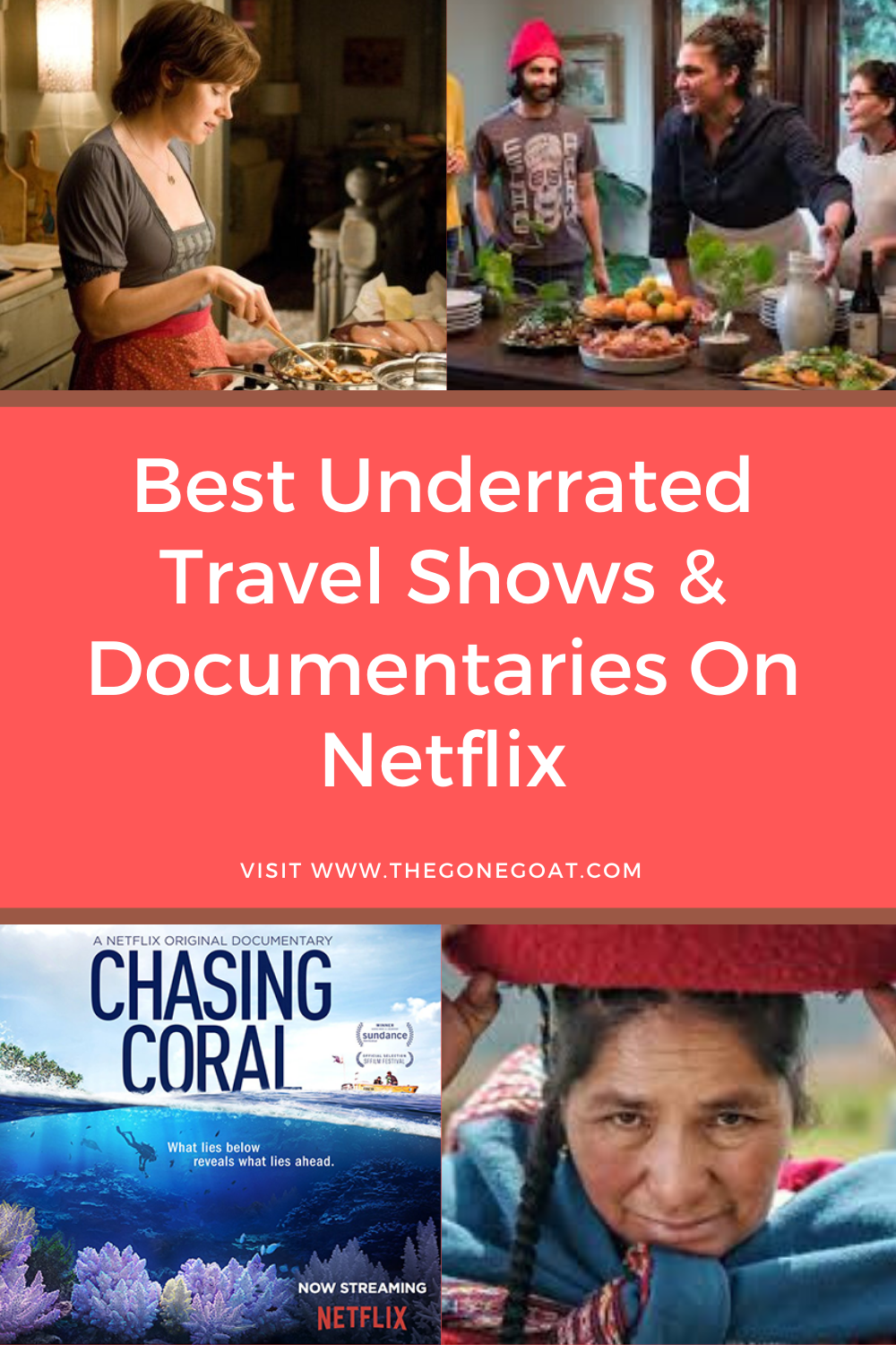 The best travel shows and documentaries on Netflix inspire us to dream a little longer and be knee-deep in narratives to remind us that is a world out there waiting to be explored. Here are the best and most underrated travel shows and documentaries on Netflix. #bestravelsshows #whattowatch #travelinspiration #travelideas #travelshows #traveldocumentaries #foodshows #foodinspiration