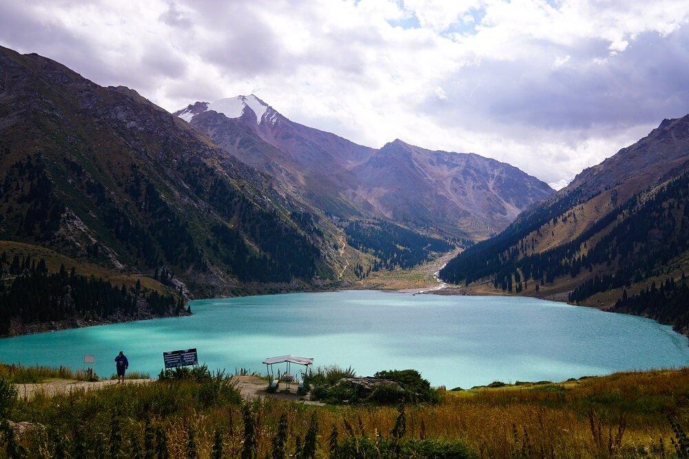 A view of the big almaty lake in kazakhstan