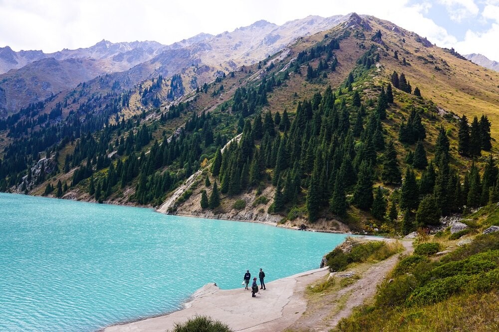 stunningly unreal, as we went down to witness the blue lake