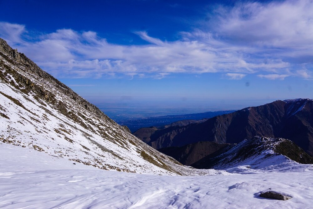 You can sort of tell the gradient of the big almaty peak.