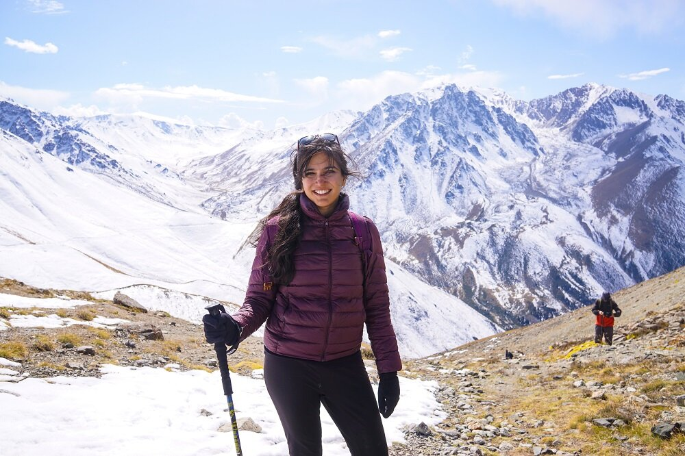 my last picture of me in kazakhstan at big almaty peak