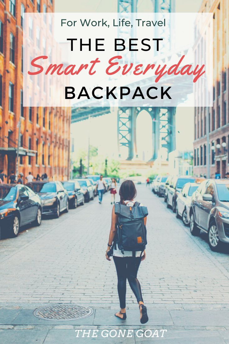 It's amazing how we have seen backpacks come a long way. Here are some of the best smart backpacks for women and men that can be used for work, travel and for commuting! It's no longer just an ordinary backpack or a heavy briefcase, but an actual smart backpack that charges your phone, harnesses solar energy, transforms your look, and gets the job done. #bestbackpacks #travelbackpacks #workbackpacks #everydaybackpack #backpackstyle #everydayfashion #travelstyle #travelfashion