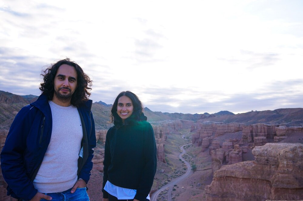 Two afghans, susan and arman from germany who joined me on this tour to charyn canyon