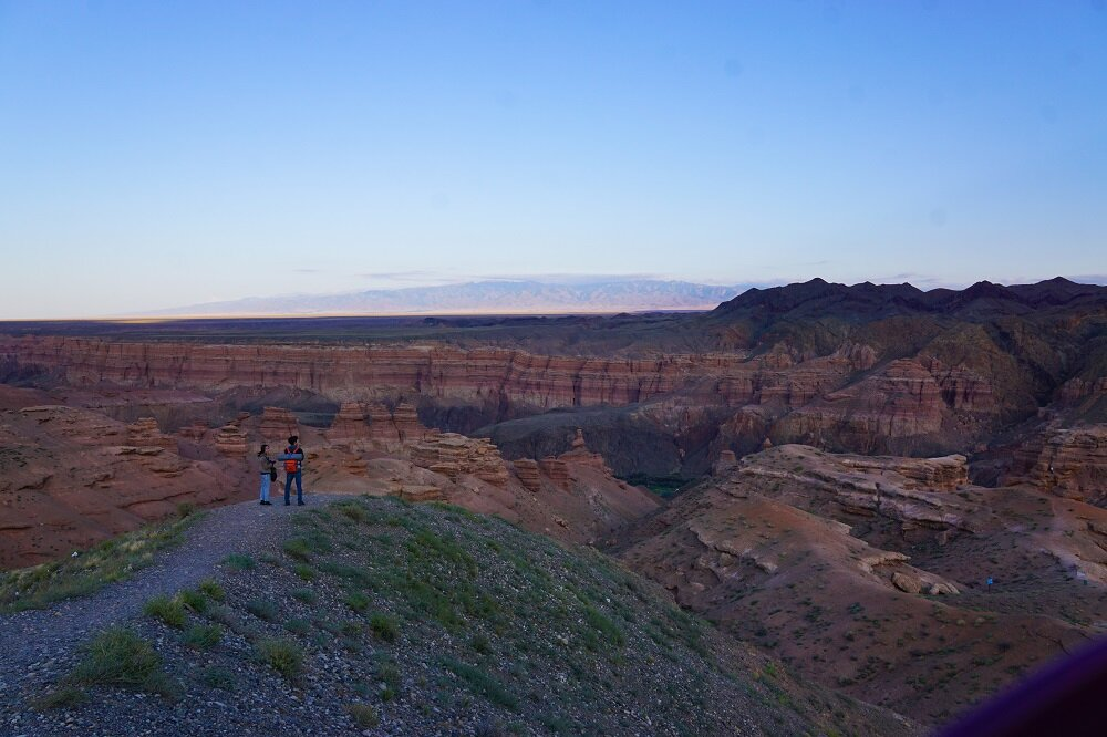 One of the viewpoints at charyn canyon just before sunset