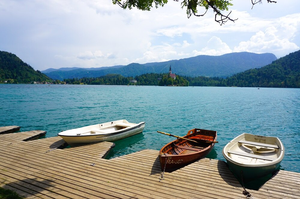 Taking a boat ride to lake bled