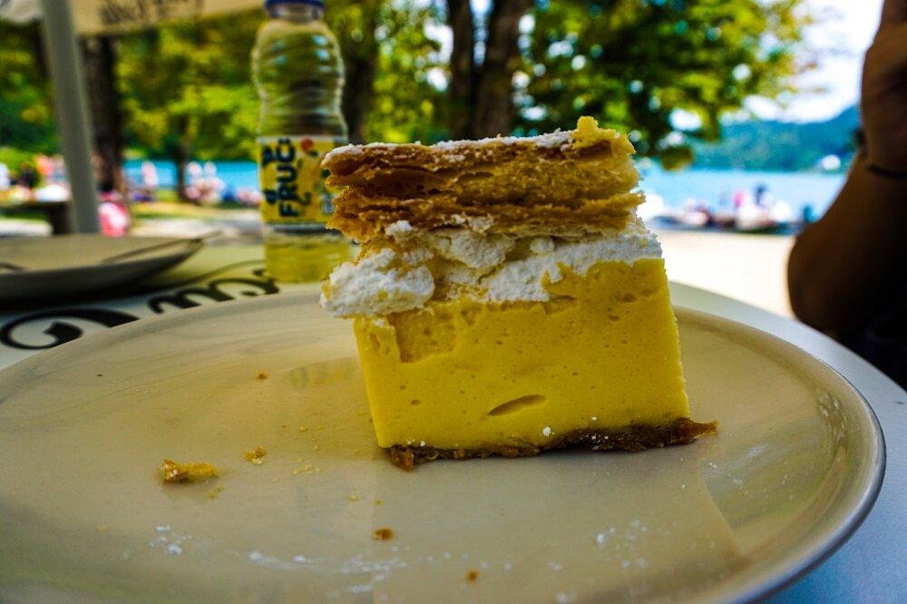 The famous bled cream cake - kremna rezina