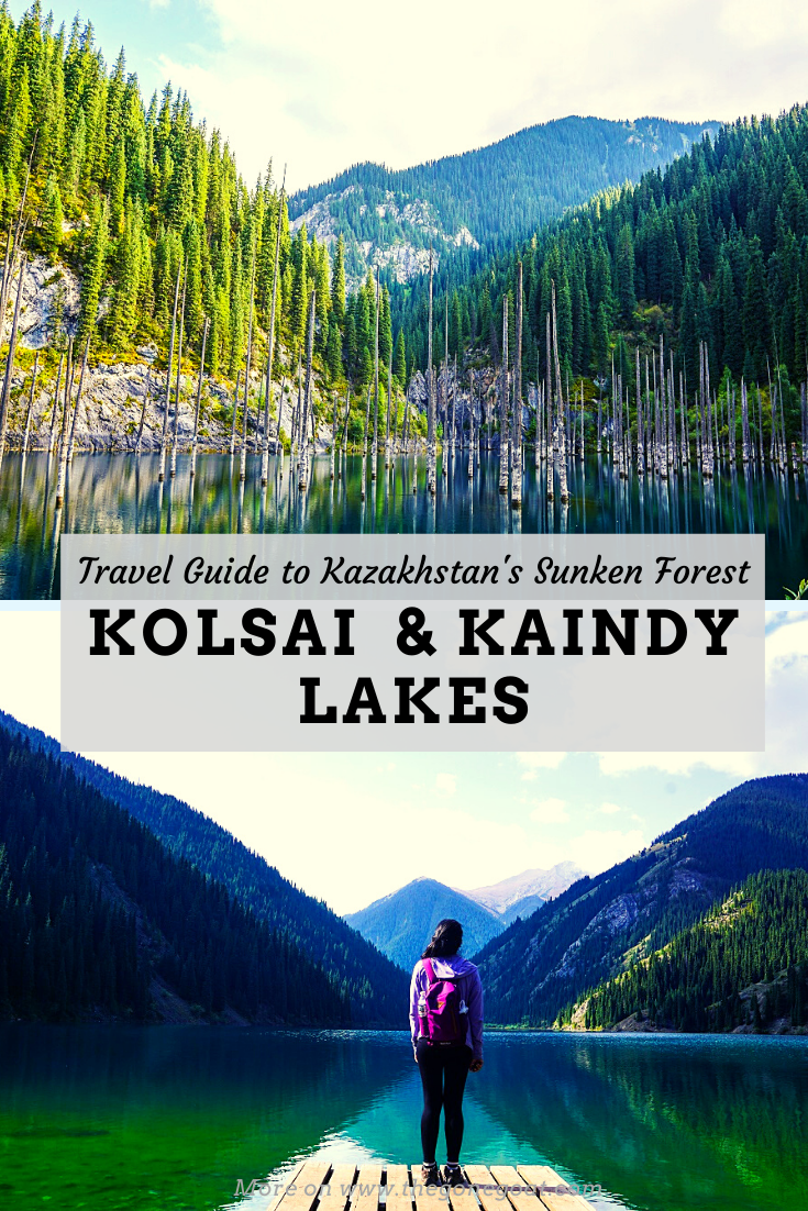 The panoramic shots of these places could easily been taken from an advert for the Swiss alps. The emerald green beauty of Kolsai Lakes and sunken forest of Lake Kaindy from Almaty towards Saty village makes it one of the best places to stop on your itinerary in Kazakhstan. #centralasiatravel #kazakhstantravel #solotravel #traveldestinations #travelideas #lakes #centralasiaitinerary #silkroad