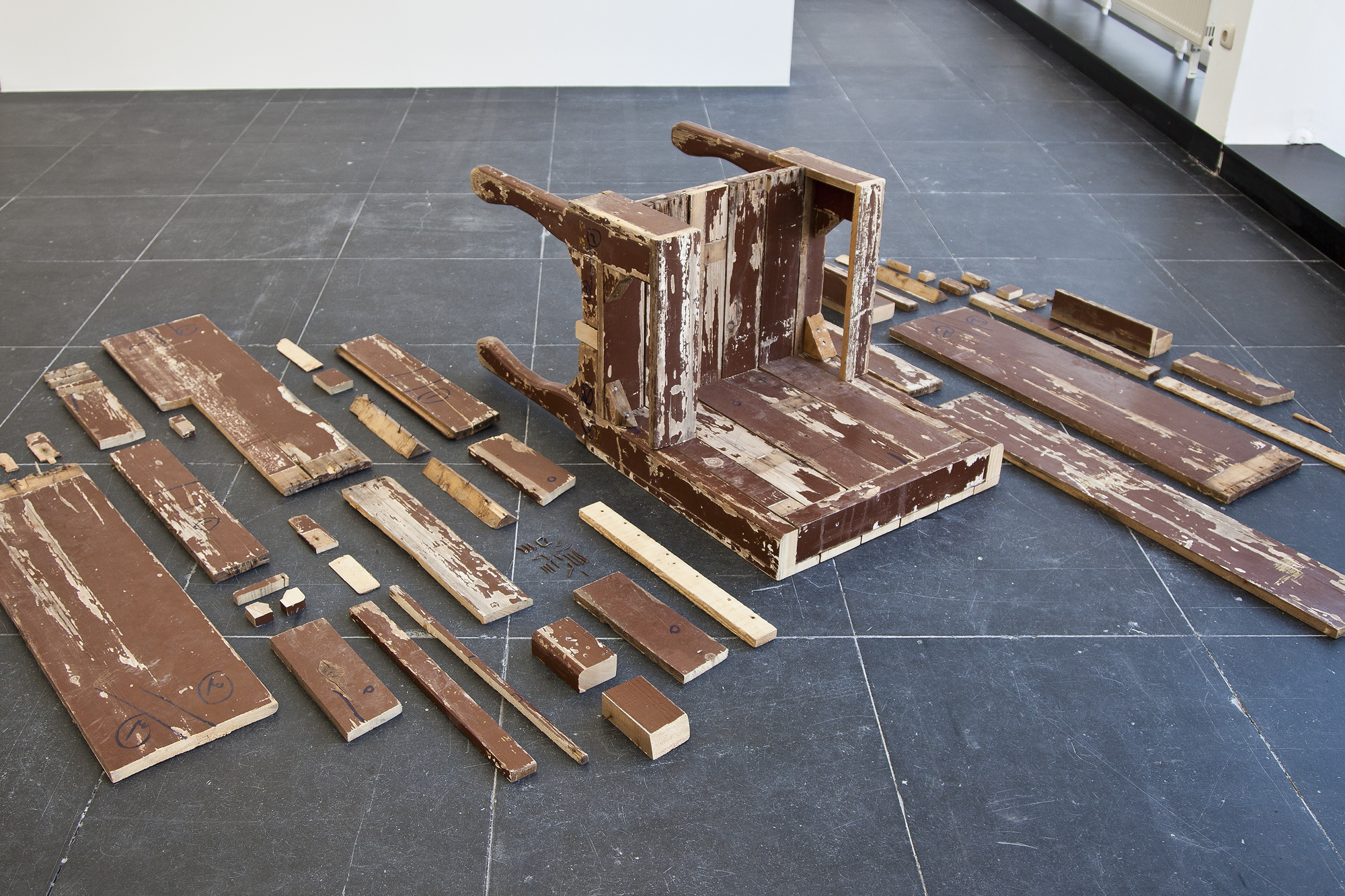 Khaled Barakeh  Regarding the Pain of Others  (2013) Wood, dimensions variable Courtesy the artist