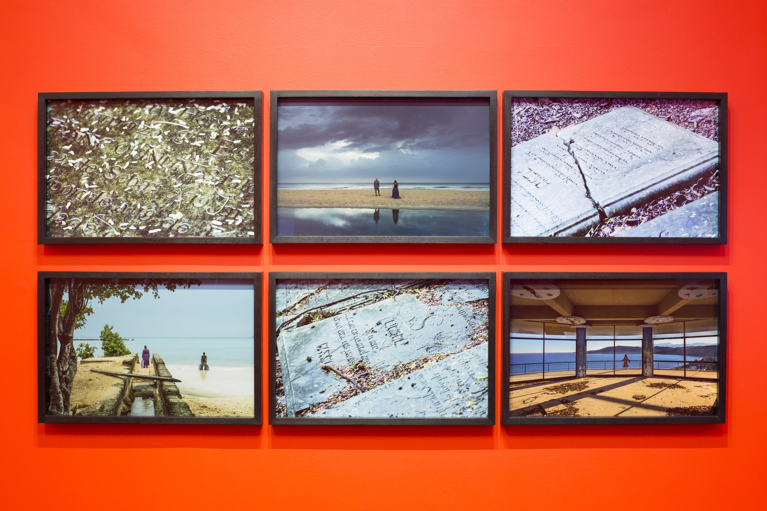 John Akomfrah,  The Utopian Palimpsest  (2016). 6 x C-type prints mounted on dibond 43.2 x 63.5 cm each frame. © Smoking Dogs Films; Courtesy Lisson Gallery. Photography Mads Holm