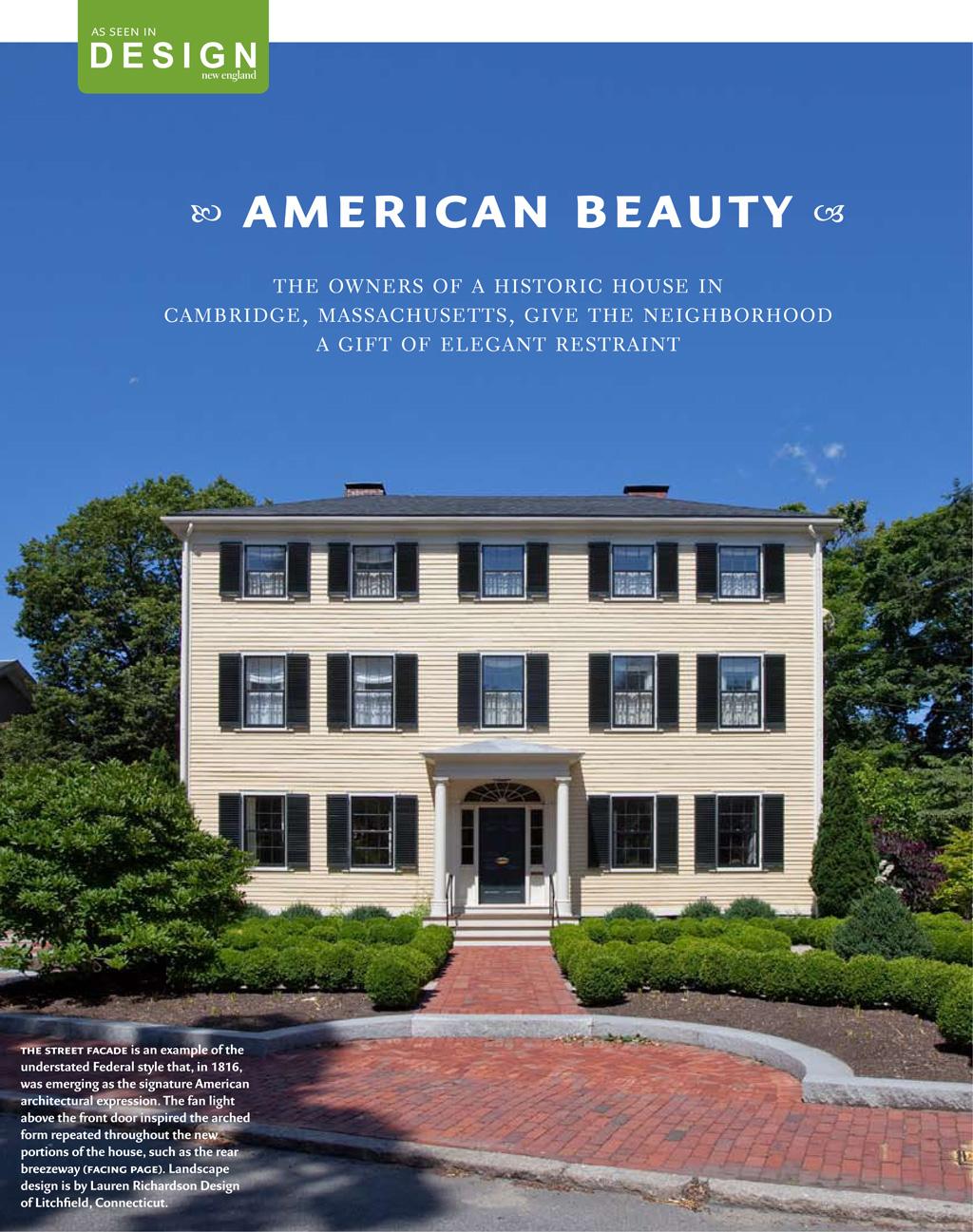 The Nowell-Greenleaf House | Design New England 2009 | Design Associates Inc