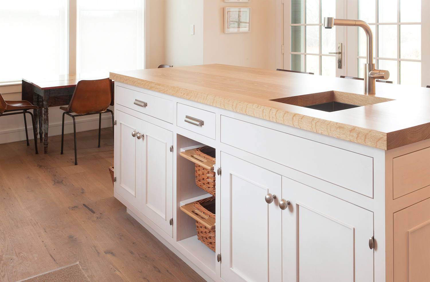 Cottage in the Woods | Kitchen Bread Cabinet | Design Associates Inc.
