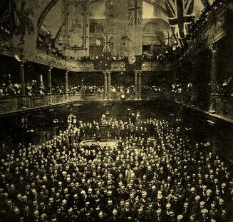 the Cardiff coal Exchange, where the World's price of coal was set