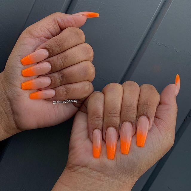 Orange acrylic ombré 🍊 🧡