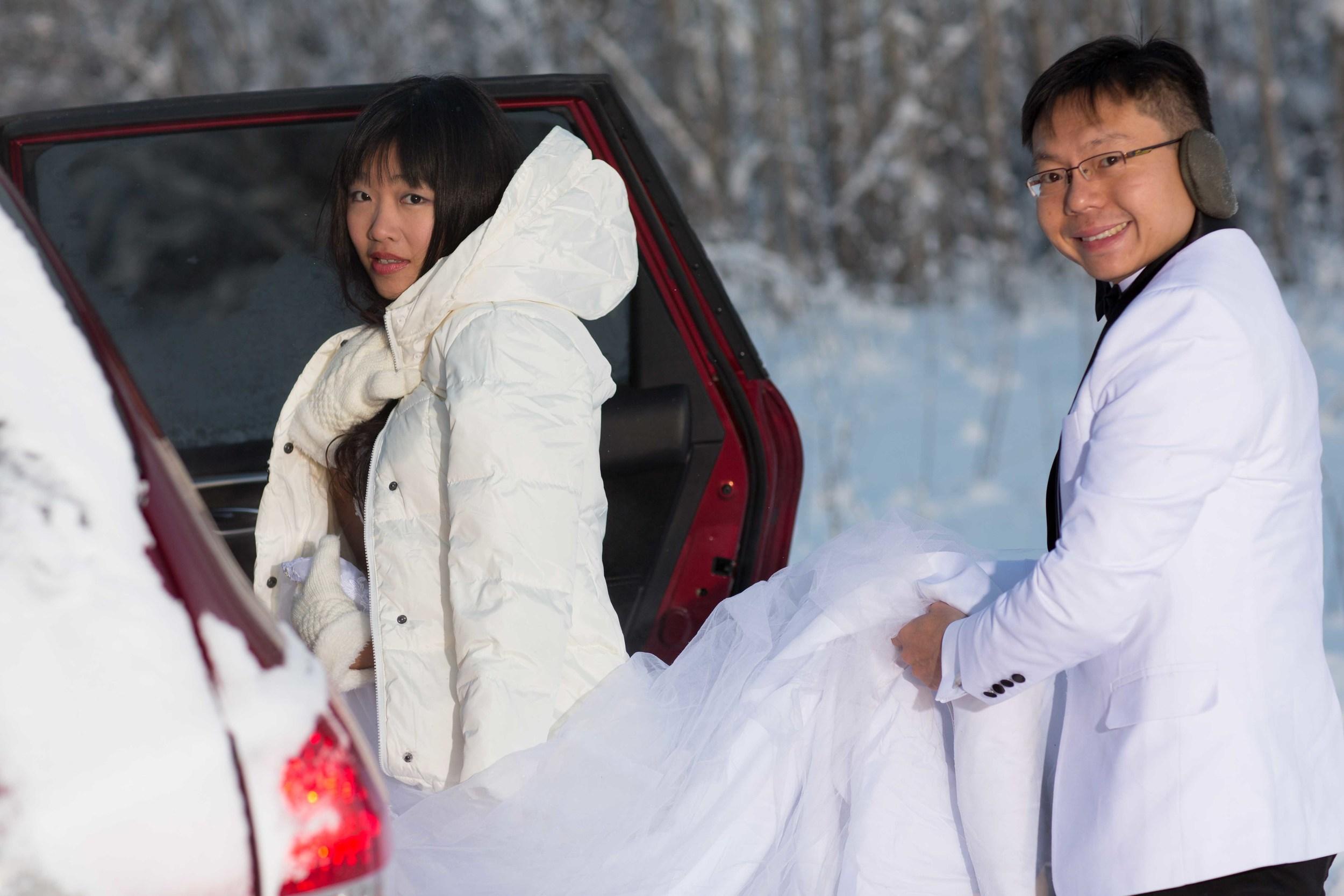 Bride and Groom under Northern Lights Fairbanks Alaska 04.jpg