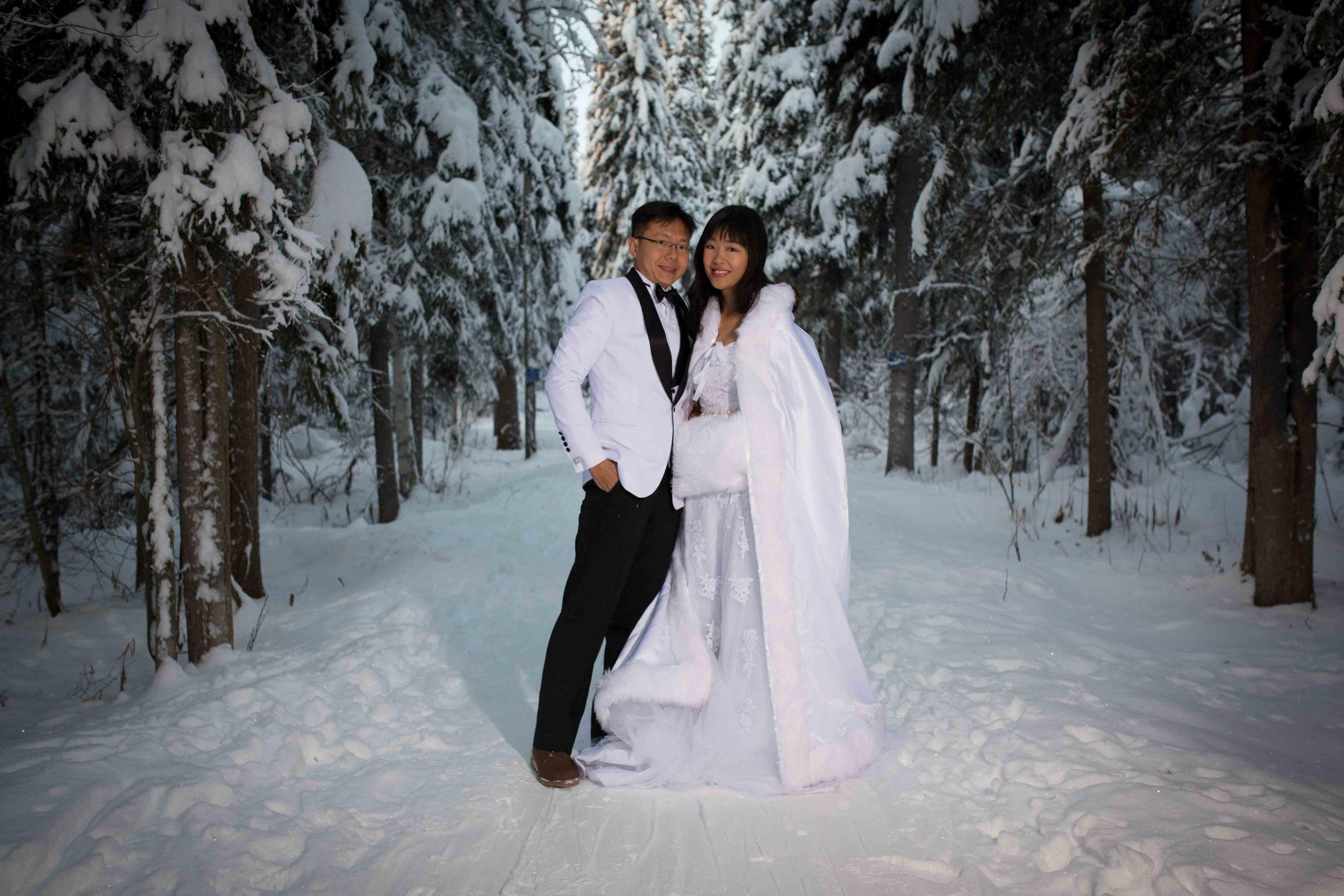 Bride and Groom under Northern Lights Fairbanks Alaska 06.jpg