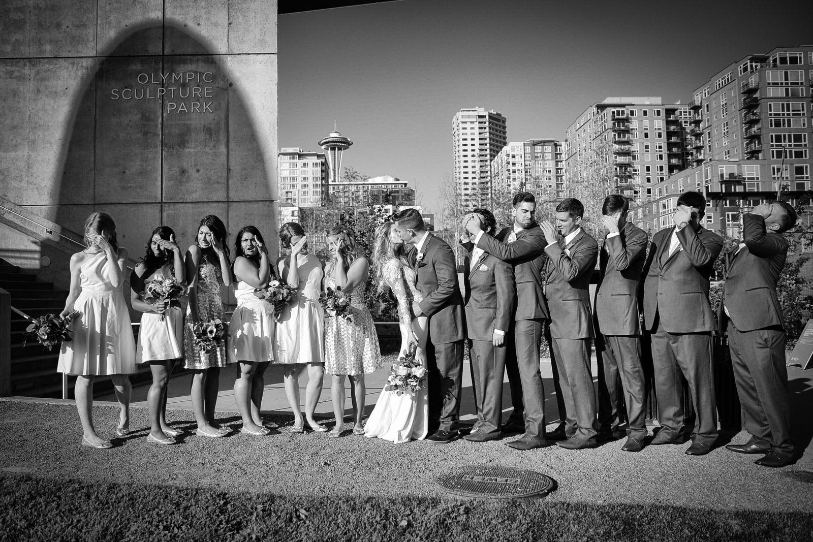 Wedding Photo Sculpture Park Seattle