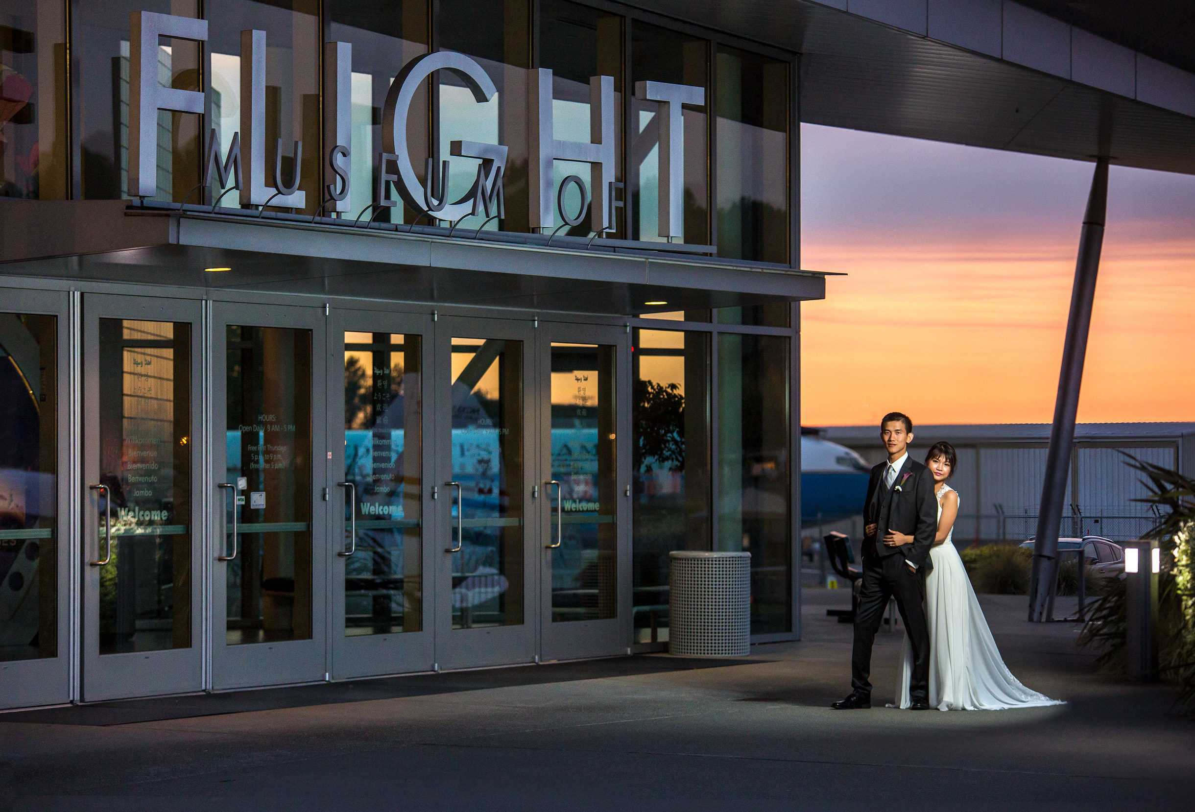 Wedding at the Museum of Flight