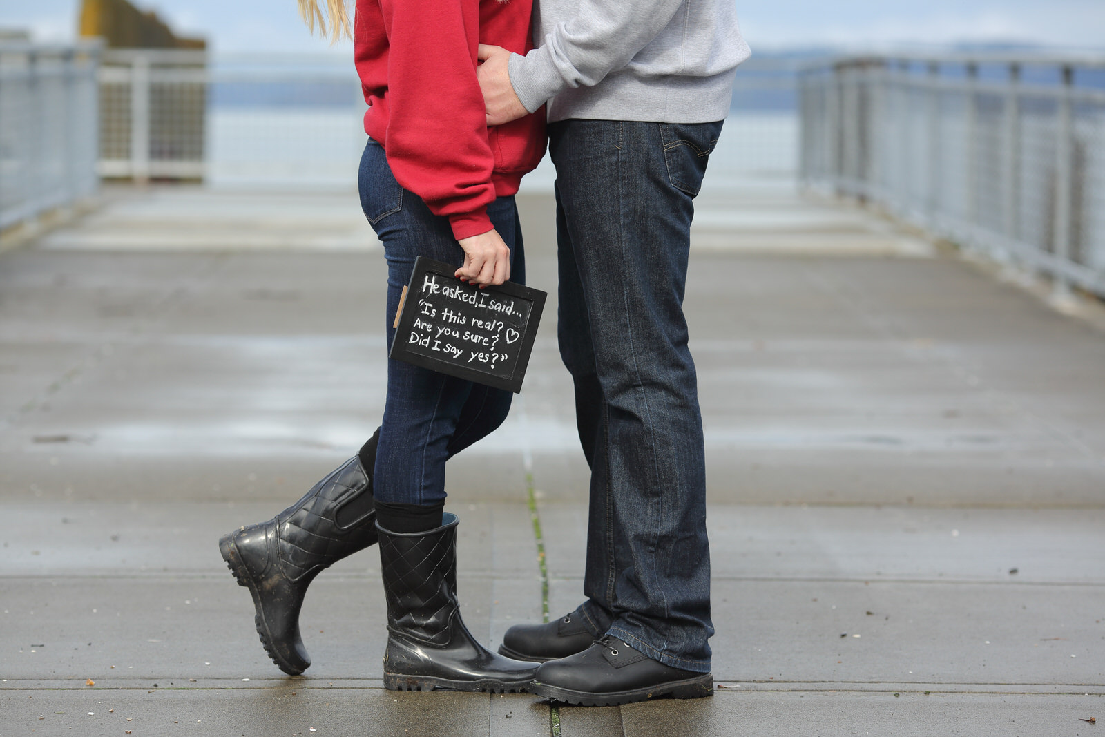 Engagement Photos on the Pier in Tacoma Washington