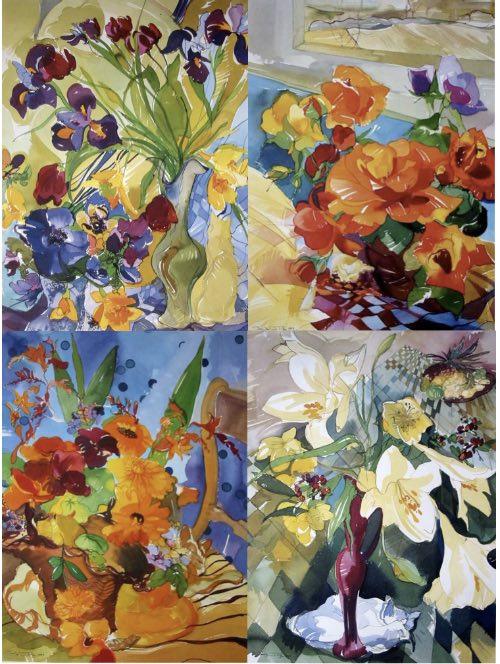 Copy of set of four prints