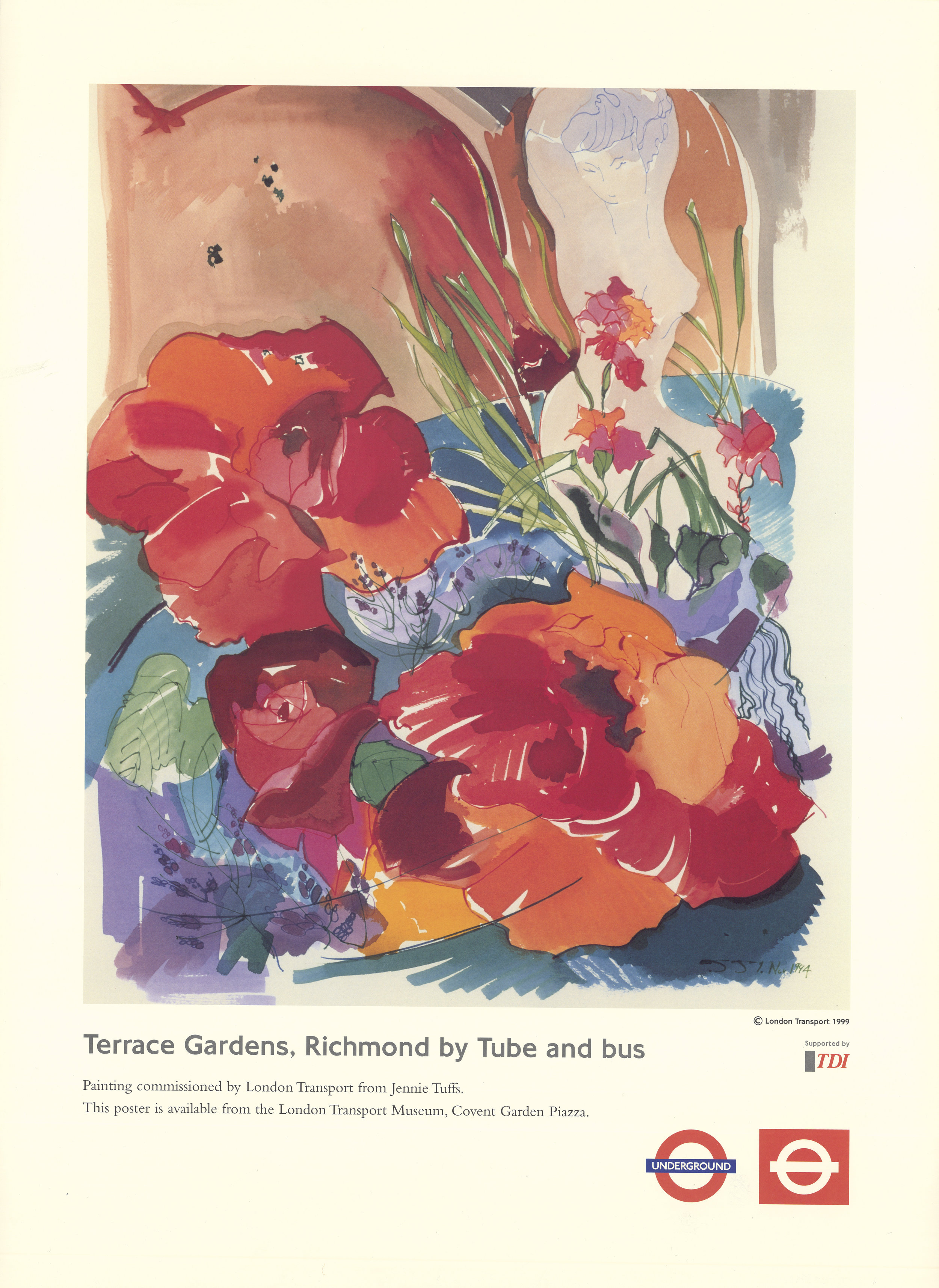 Terrace Gardens, Richmond by Tube and bus 1995