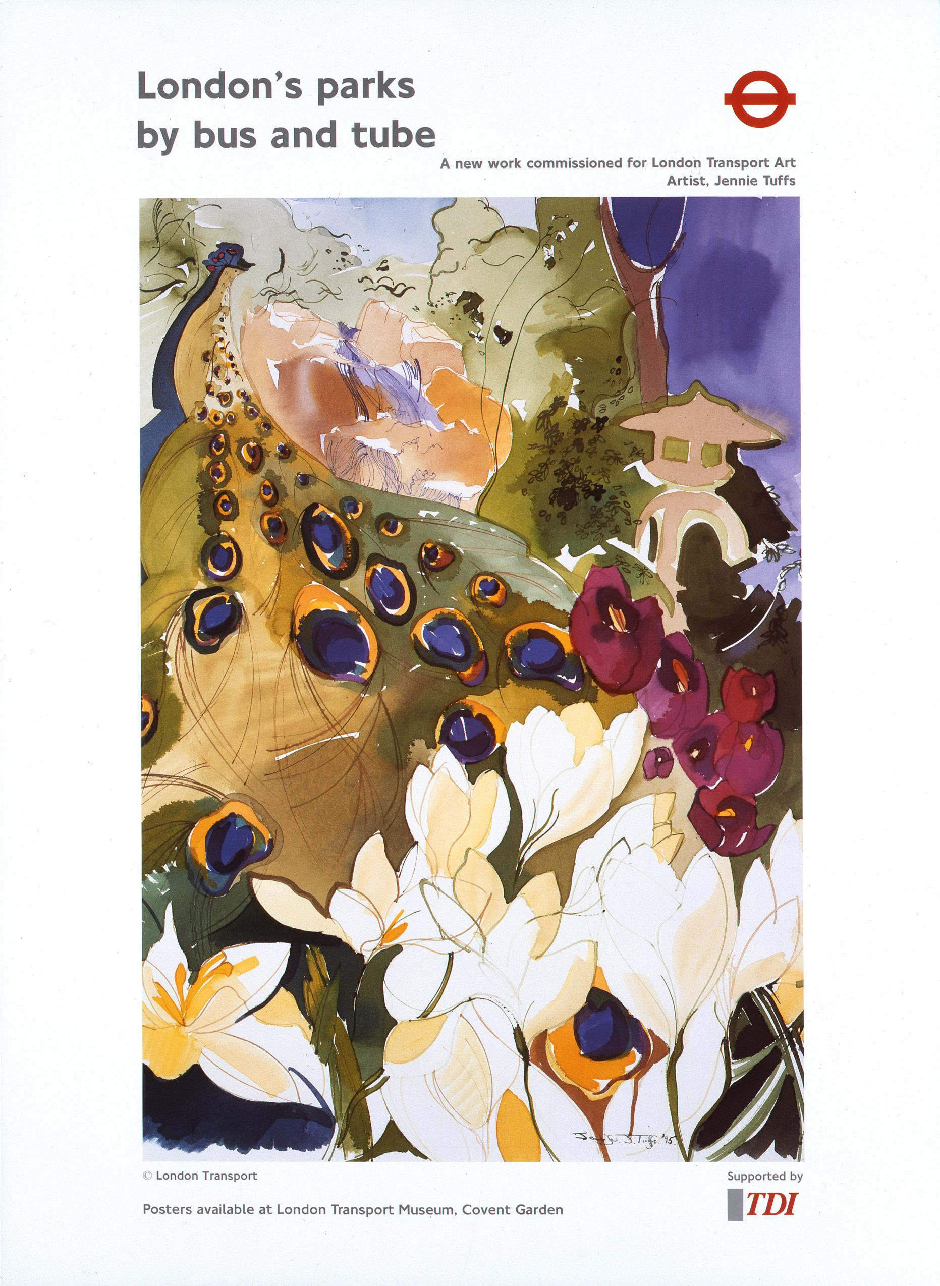 London's garden's by bus and Tube - 2017 - London's gardens by bus and Tube© London Transport Museum collectionReissued as part of the
