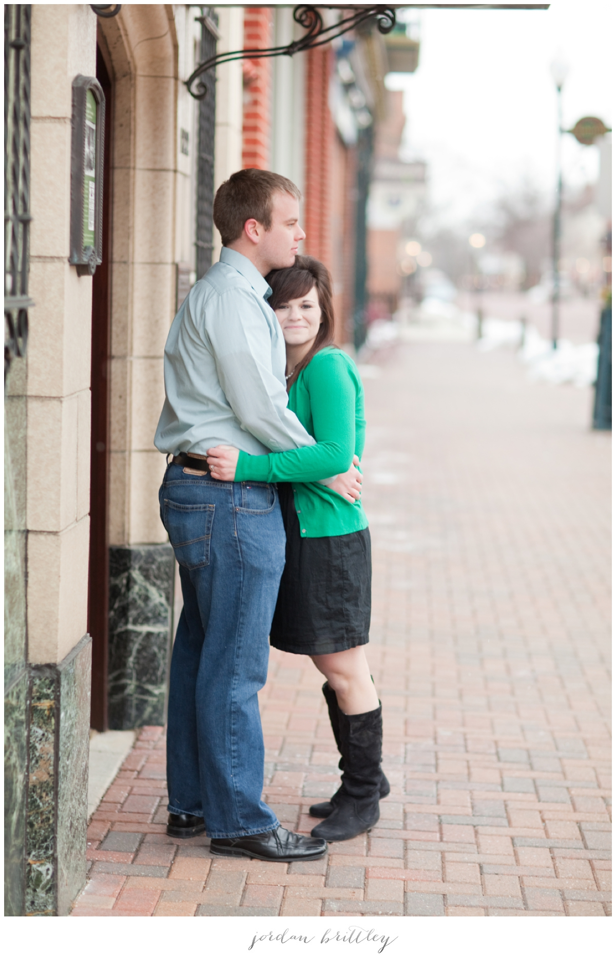 St Charles Engagement - Main Street St Charles by Jordan Brittley_002