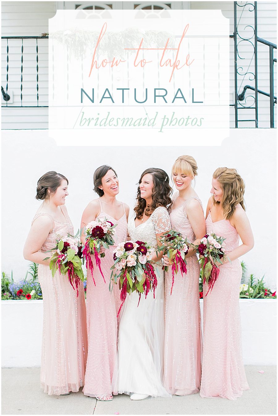 Photo Tips - How to take natural photos of the bridesmaids