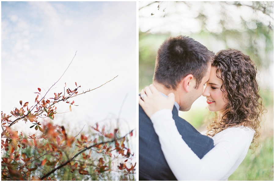 Fall anniversary session under the fall leaves for the win!