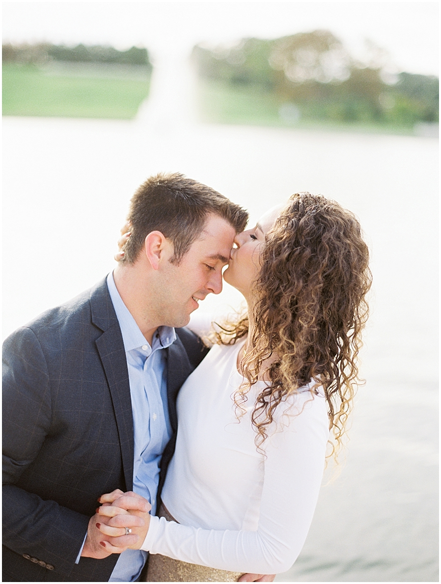 Sweet anniversary kisses