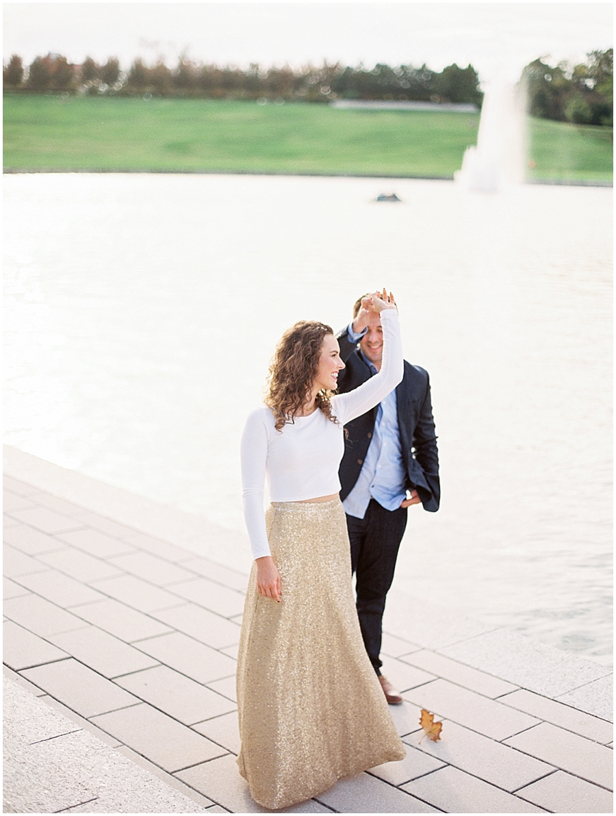 Dancing by the History Museum in Forest Park - St Louis Anniversary Session
