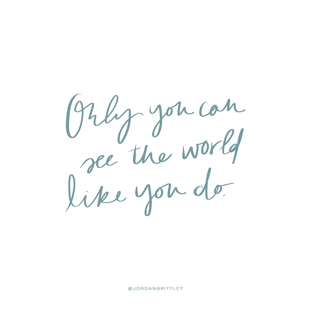 Only you can see the world like you do. (Find your photographic voice)