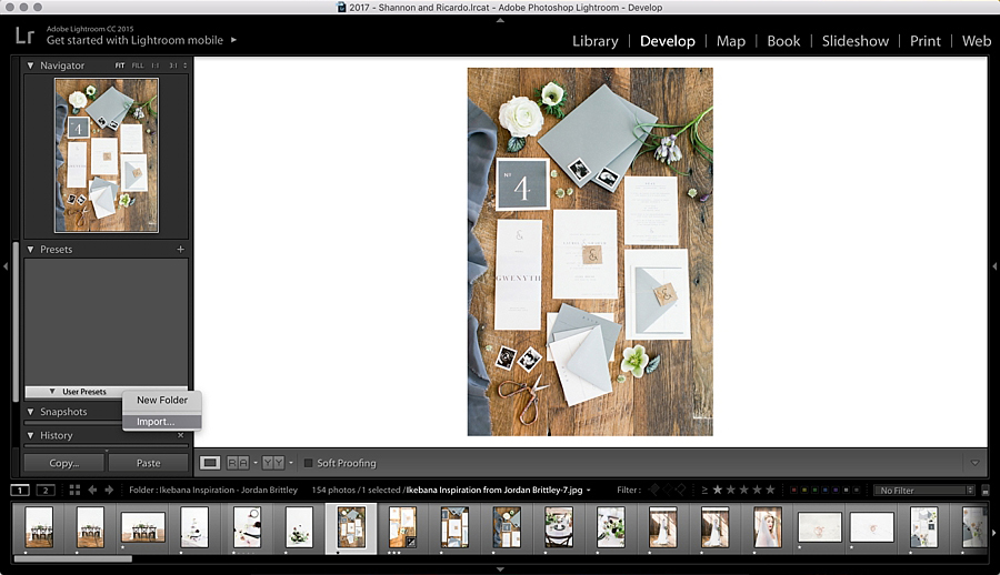 How to import presets into Lightroom - Light and airy photos