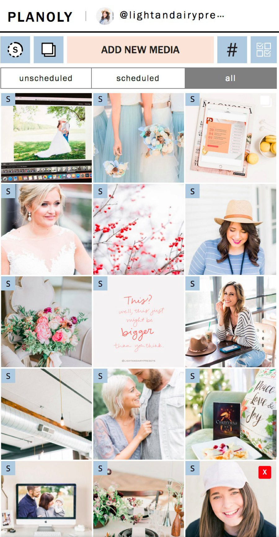 how to get a cohesive light and airy instagram feed