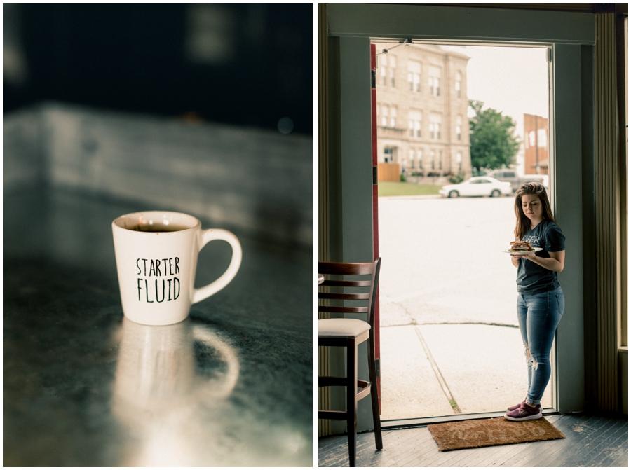 Dark and moody cafe photos