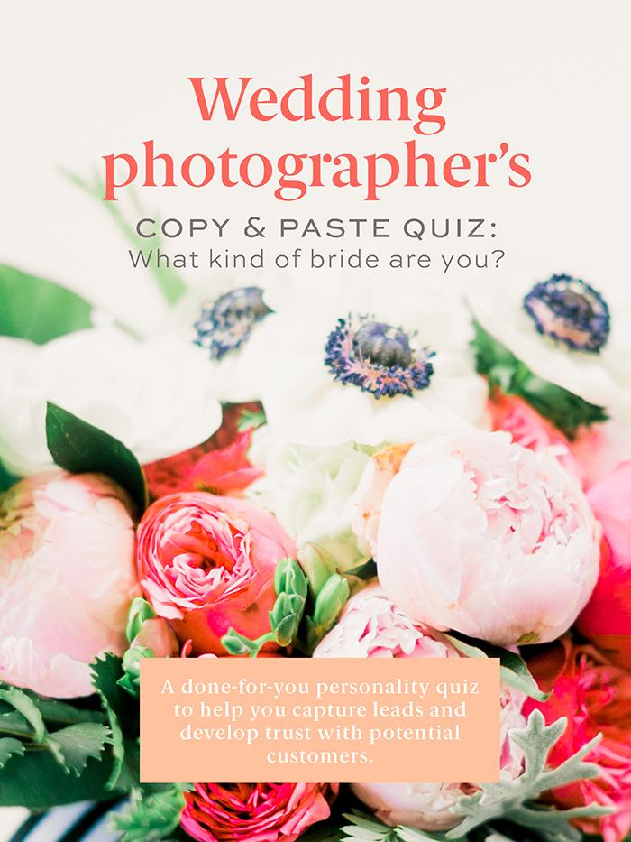 online quiz creator — swipeable quiz for wedding photographers