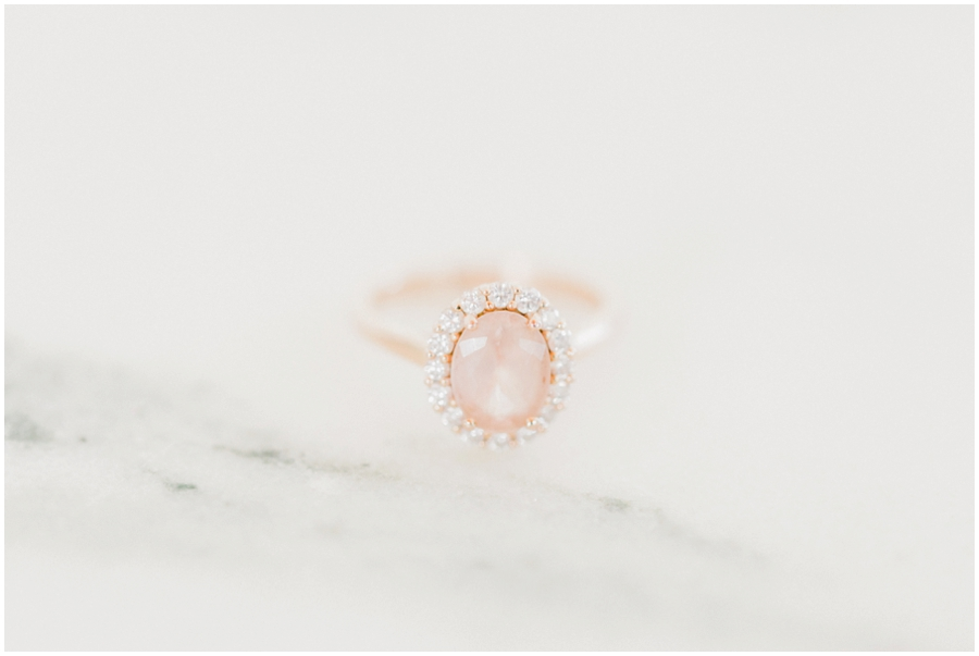 wedding ring at a styled shoot