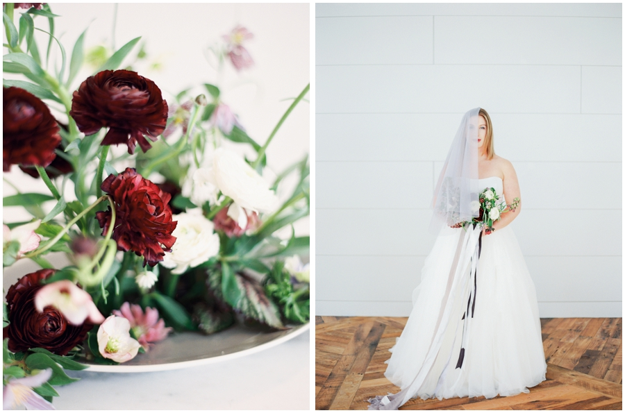 styled wedding shoot in maine